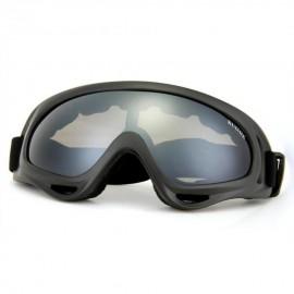 Gafas Protección Mascara para Moto Esqui Deporte Ajustable Lente Gris