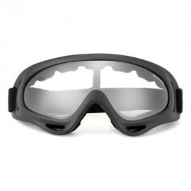 Gafas Protección Mascara para Moto Motocross Esqui Deporte Ajustable Negro