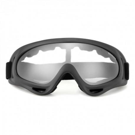 Gafas Protección Mascara para Moto Motocross Esqui Deporte Ajustable Negro - Envío Gratuito