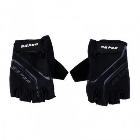 Guantes del dedo sahoo Bike Negro exterior transpirable deporte de la bicicleta GEL ciclo medios Negro XL - Envío Gratuito