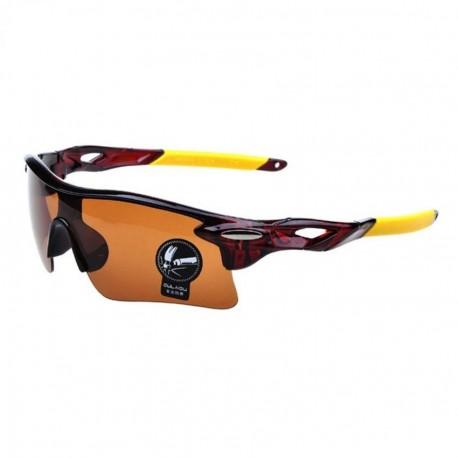 Sunglasses Unisexo Gafas de Sol Deportivo Actividades al Aire Libre Ciclismo OASAP-ES71328-Marrón - Envío Gratuito