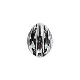 Elenxs Blanco Negro Montaña camino de la bicicleta MTB de la bici de ciclo del deporte de los hombres Casco + Visor L