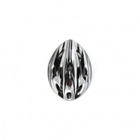 Elenxs Blanco Negro Montaña camino de la bicicleta MTB de la bici de ciclo del deporte de los hombres Casco + Visor L - Envío Gr