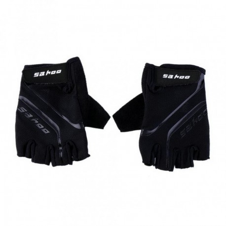 Guantes del dedo sahoo Bike Negro exterior transpirable deporte de la bicicleta GEL ciclo medios Negro L - Envío Gratuito