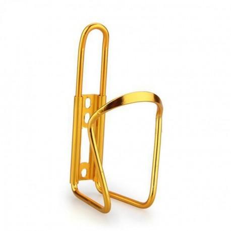 Para bicicleta Ciclismo Deporte acuático Aluminio Botella estante del sostenedor de la jaula de oro - Envío Gratuito