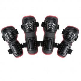 Rodilla Deportes al aire libre 4pcs y Elbow Guards Engranaje protector negro