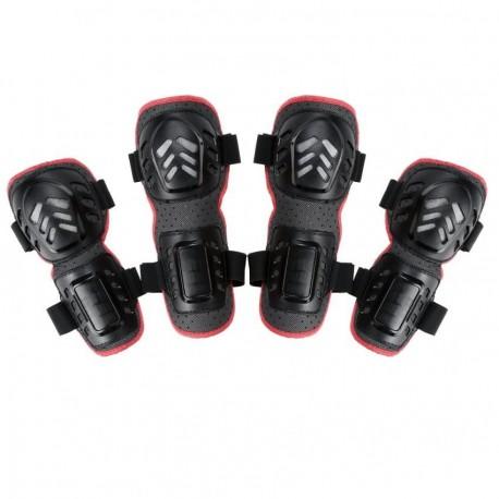 Rodilla Deportes al aire libre 4pcs y Elbow Guards Engranaje protector negro - Envío Gratuito