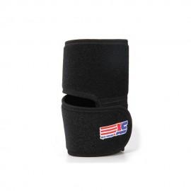 Codera Deporte Protección para Codo con Velcro Ajustable Negro