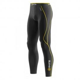 Pantalón de compresión SKINS B60052001M-Negro con Amarillo - Envío Gratuito