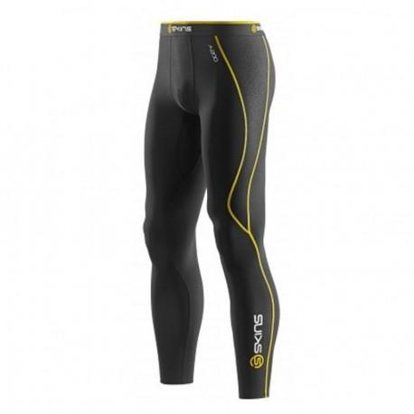 Pantalón SKINS B60052001L-Negro con Amarillo - Envío Gratuito