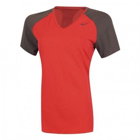 Playera Nike Regular Club SS Baselayer-Rojo - Envío Gratuito