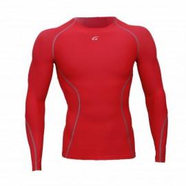 Camiseta Atletica Hombre Compresión Tee Rojo YT003