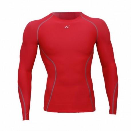 Camiseta Atletica Hombre Compresión Tee Rojo YT003 - Envío Gratuito