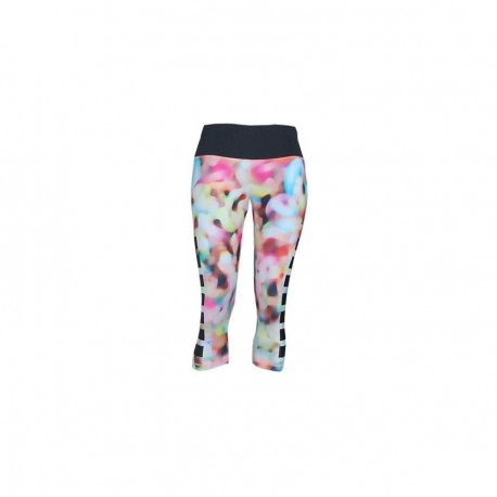 Pantalón 3/4 para correr de Mujer Adidas Techfit Infinita Serie TIGHT B S12119-Multicolor - Envío Gratuito