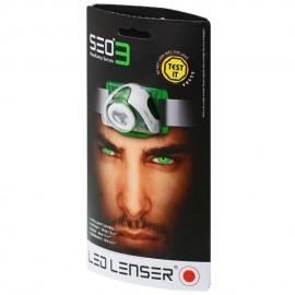 LED Lenser SeO3 Linterna frontal (Verde)