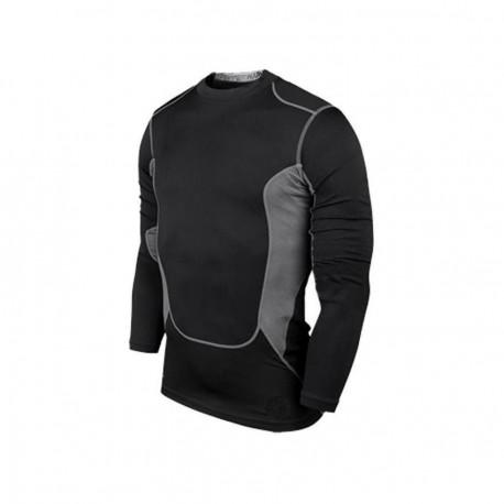 Los hombres de PRO gimnasio Fitness Entrenamiento Deportivo Marcha de secado rápido manga larga T-shirt (negro) - Envío Gratuito
