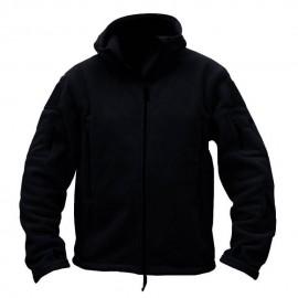 Softshell Jacket Polartec Thermal Al Aire Libre Escudo Deporte Senderismo Polar Con Capucha Negro