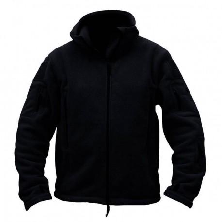 Softshell Jacket Polartec Thermal Al Aire Libre Escudo Deporte Senderismo Polar Con Capucha Negro - Envío Gratuito