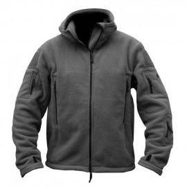 Softshell Jacket Polartec Thermal Al Aire Libre Escudo Deporte Senderismo Polar Con Capucha Gris
