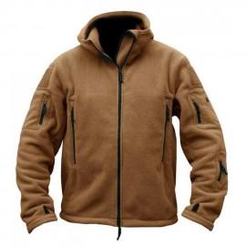 Softshell Jacket Polartec Thermal Al Aire Libre Escudo Deporte Senderismo Polar Con Capucha Bronce