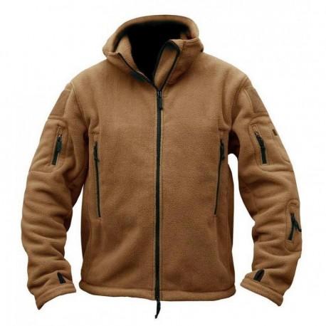 Softshell Jacket Polartec Thermal Al Aire Libre Escudo Deporte Senderismo Polar Con Capucha Bronce - Envío Gratuito