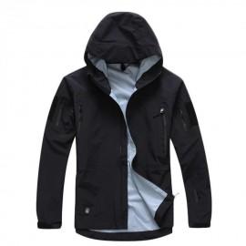 Hombres chaqueta con capucha Hardshell Táctico Ligero impermeable