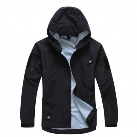 Hombres chaqueta con capucha Hardshell Táctico Ligero impermeable - Envío Gratuito