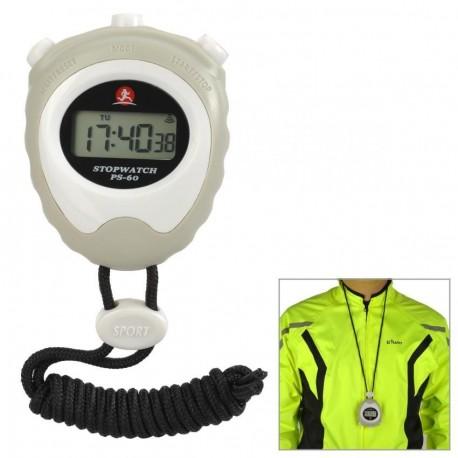 """PS-60 1.2"""" LCD pantalla deportes Cronómetro Cronógrafo para correr - blanco - Envío Gratuito"""