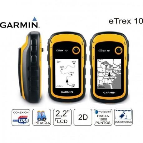 GPS de Mano Garmin eTrex 10-Amarillo - Envío Gratuito