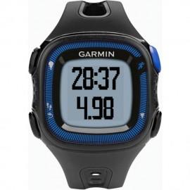 Reloj de Fracuencia Cardíaca Garmin Forerunner 15 con Banda-Negro con Azul