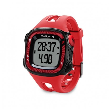 Reloj de Fracuencia Cardíaca Garmin Forerunner 15 con Banda-Negro con Rojo - Envío Gratuito