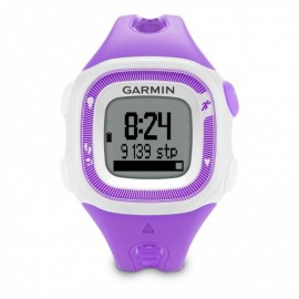 Reloj de Fracuencia Cardíaca Garmin Forerunner 15 con Banda-Violeta con Blanco