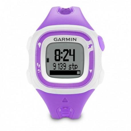 Reloj de Fracuencia Cardíaca Garmin Forerunner 15 con Banda-Violeta con Blanco - Envío Gratuito
