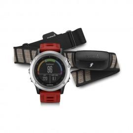 Reloj Multideporte Garmin Fenix 3 con banda-Rojo