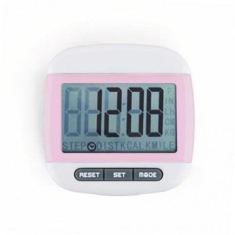 Mini LCD Pedometer (Rosa) - Envío Gratuito