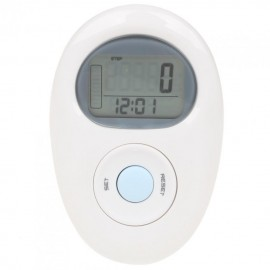 "1.1"" LCD Digital Pocket Water Resistant Pedometer with 3D Sensor (1xCR2032)"