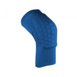 Rodilleras Antislip Deportes crashproof elástica fitness Honeycomb Pad baloncesto Pierna Larga Protector Blue & L Azul
