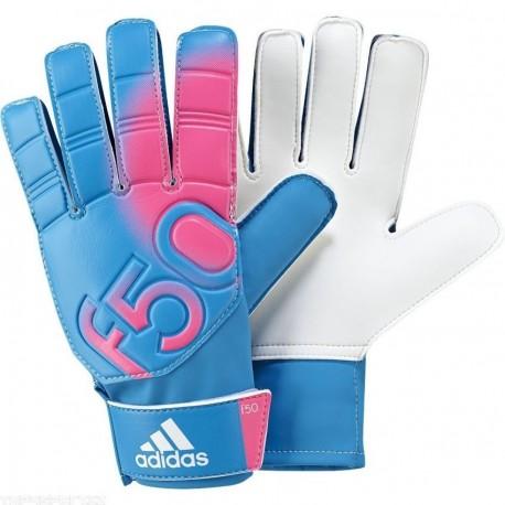 Guantes de portero Adidas F50 Training-Azul con rosa - Envío Gratuito