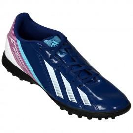 Tenis para Fútbol Adidas F5 TRX TF para Caballero - Azul + Púrpura