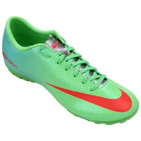 Tenis para Fútbol Rápido Nike Mercurial Victory 4 TF Lime para Caballero - Verde - Envío Gratuito