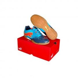 Tenis de Fútbol Puma 10265501-25-Azul con Rojo