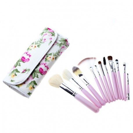 Set 12 Brochas Profesionales Para Maquillaje Florales.. - Envío Gratuito