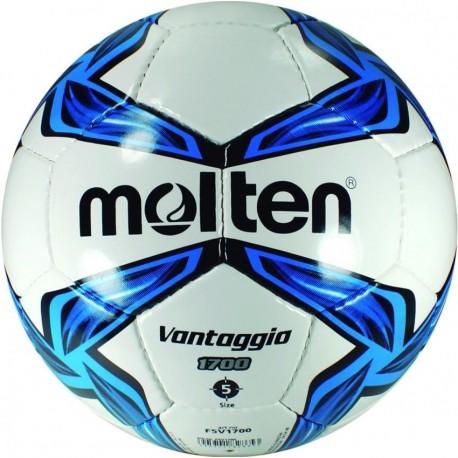 Balon Futbol Cosido a Mano Molten Vantaggio 5 - Azul - Envío Gratuito