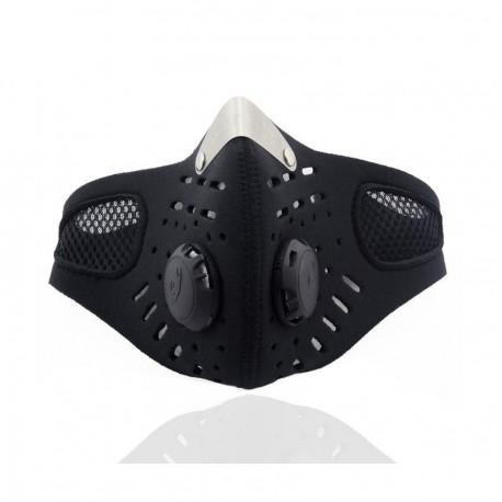 Esquí de la motocicleta anti-contaminación Mascarilla Deporte Boca-mufla a prueba de polvo con filtro Negro - Envío Gratuito