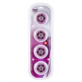 Set de Ruedas RollerFace 84 mm-rosa-Blanco con Rosa - Envío Gratuito