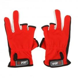 Deportes al aire libre Ajustable transpirable antideslizante Low-Cut 3 dedos Guantes Pesca - Envío Gratuito