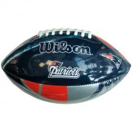 Balón de Americano Juvenil NFL Wilson WTF1534 NE-Azul con Rojo - Envío Gratuito