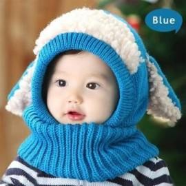 Gorro de Invierno Yucheer Tejida para Bebé-Azul con Blanco - Envío Gratuito