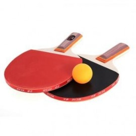 Tabla Par Tenis Ping Pong Paddle Raqueta Bate con 3 bolas de deportes al aire libre - Envío Gratuito