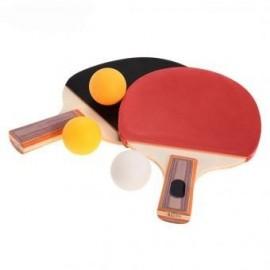 Elenxs Tabla Par Tenis Ping Pong Paddle Raqueta Bate con 3 bolas de deportes al aire libre - Envío Gratuito